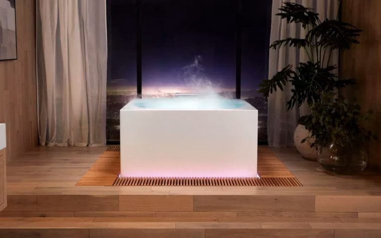 A Smart Bathtub That is Activated With Voice Commands